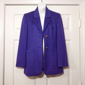 VINTAGE KS Selection royal purple cashmere blazer